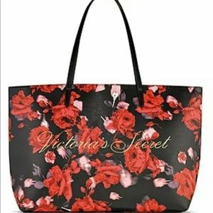 VICTORIA'S SECRET FLORAL/ROSE TOTE BAG (P12)